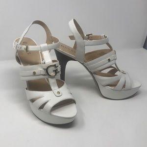 NWOT Guess 10M slingback platform open toe heels